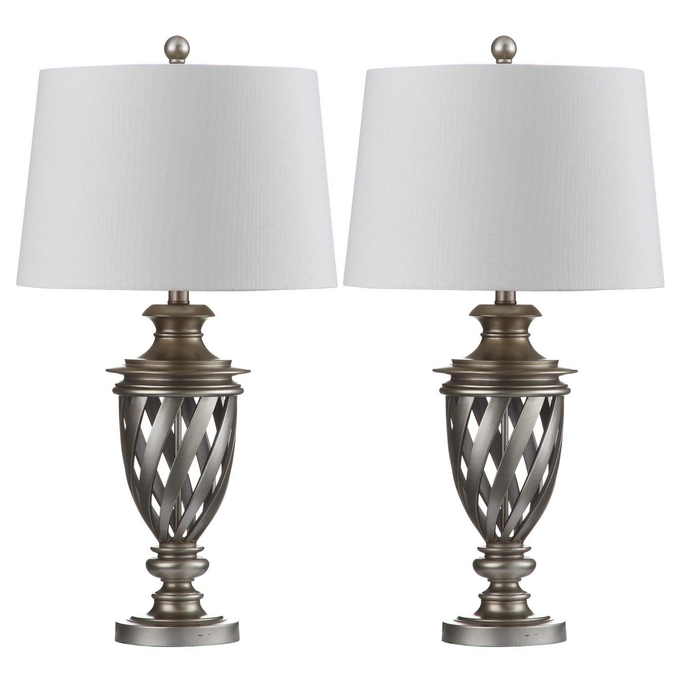 Byron Urn Table Lamp Set Of 2 Safavieh Target Silver Table Lamps Table Lamp Sets Table Lamp