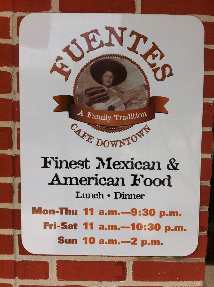 Fuentes Cafe Downtown Good tacos, salad and soup for