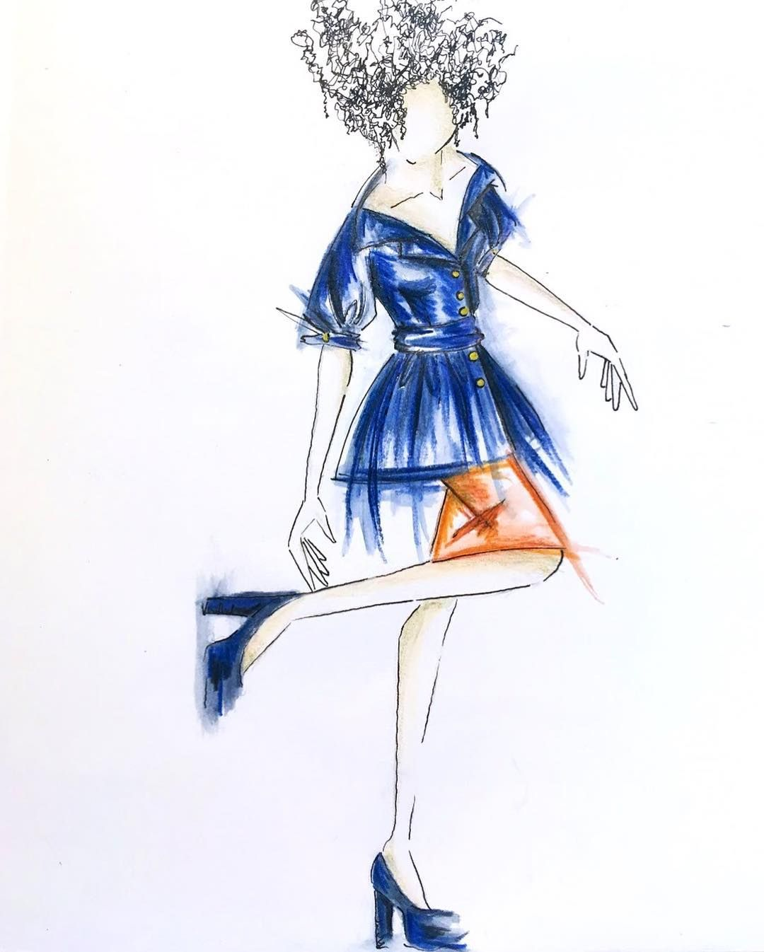 Stepping Into The Summer Fashionillustration Drawing Illustrating