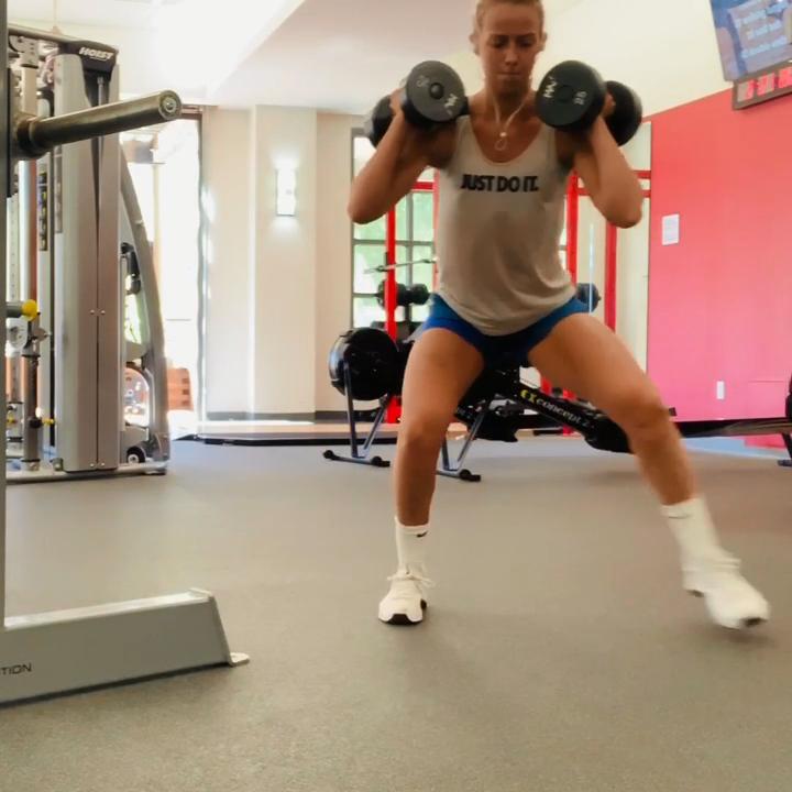 Leg Exercise Using Dumbbells #dumbbellexercises