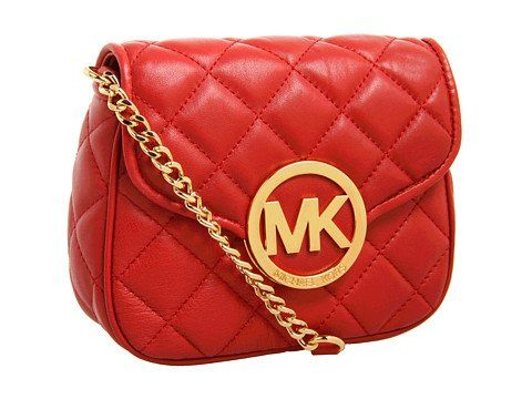 Michael Kors Handbag Fulton Quilt Small Crossbody Red | Traveling Of Life #fashion #women #bags #shoes #clothing