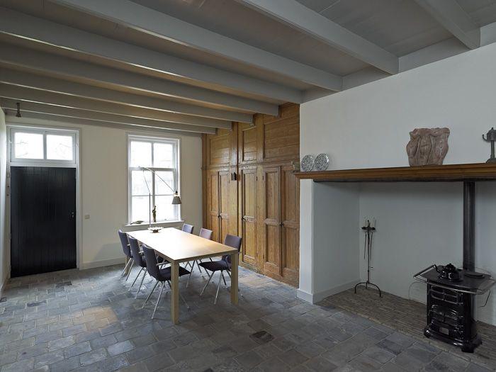 Wandkast bedstedes schouw oude interieurelementen for Boerderij interieur