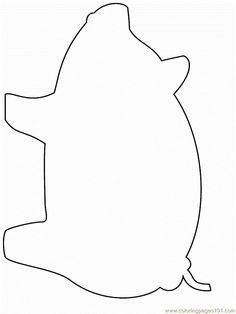 Free printable template of pig. Great for the Three Little