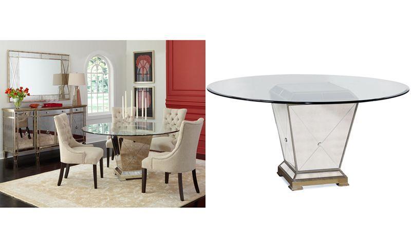 Astounding Marais Dining Room Furniture 7 Piece Set 60 Mirrored Home Interior And Landscaping Ologienasavecom