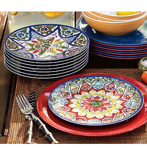 Beautiful #Mexican #tile #dishes Talavera dinnerware available here //.lafuente.com/Mexican-Decor/Talavera-Pottery/Talavera-Dinnerware/  sc 1 st  Pinterest & Great Design Under $100 | Pinterest | Talavera pottery Dinnerware ...