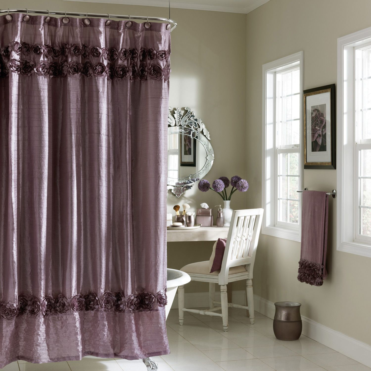 Uncategorized Beautiful Bathroom Curtains croscill curtains for renovating bathroom and living room drapery ideas