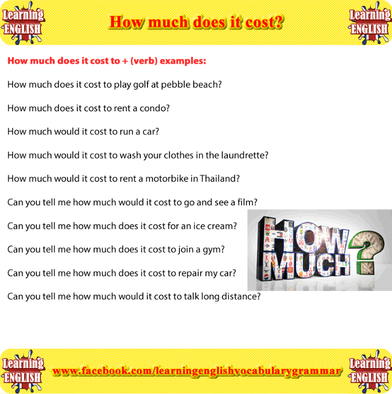 Cost Verb