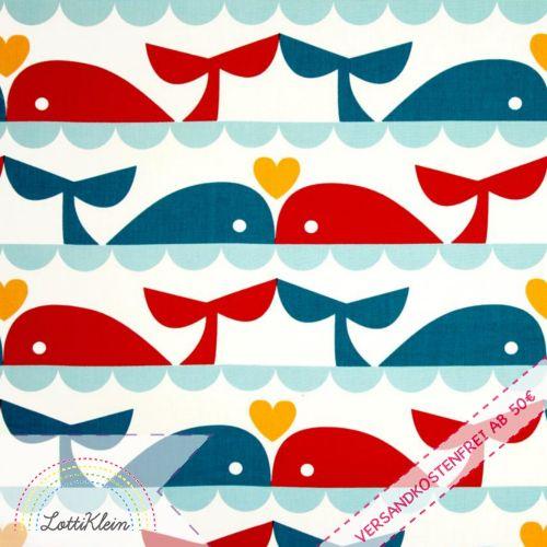 Birch marine too whale love wal biostoff gots von lottiklein auf kids muster - Stoffe babyzimmer ...
