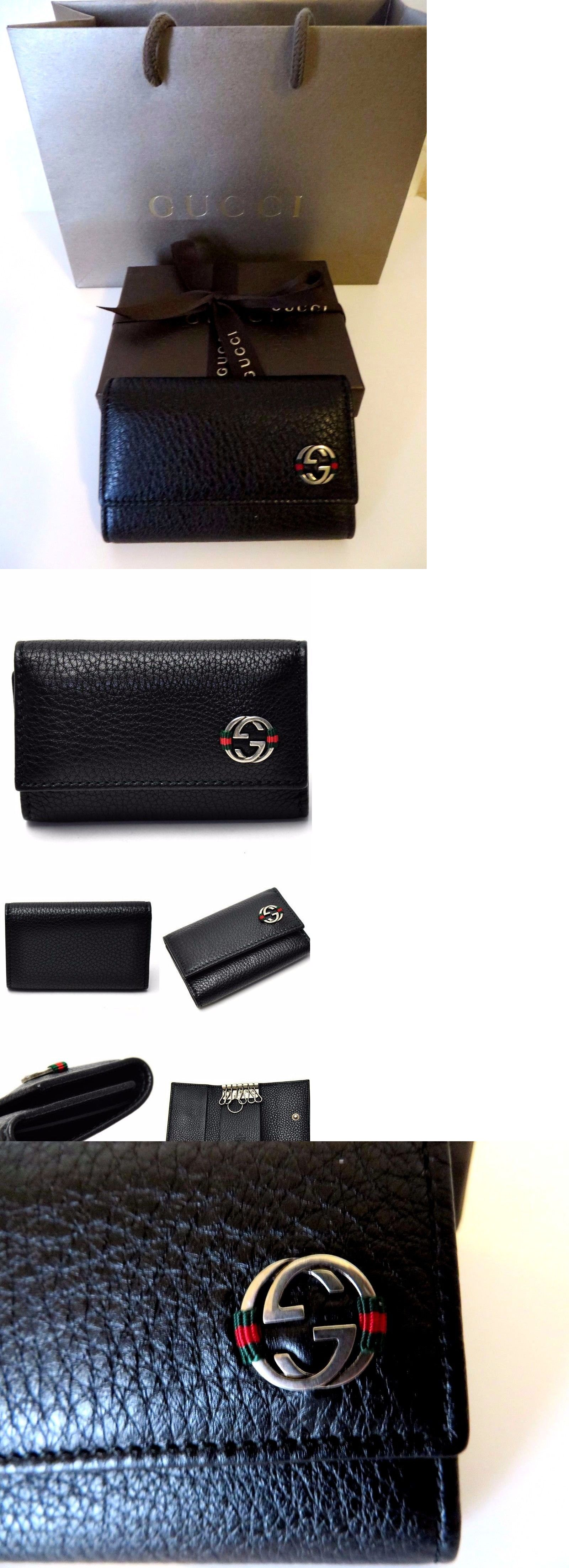 c8885333c4bf Other Mens ID and Doc Holders 169272: Gucci Men S New Leather Key Case Card  Holder 100% Authentic,Gucci Box Bag -> BUY IT NOW ONLY: $189 on eBay!