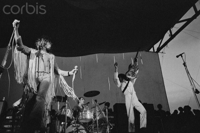 The Who Playing at Woodstock