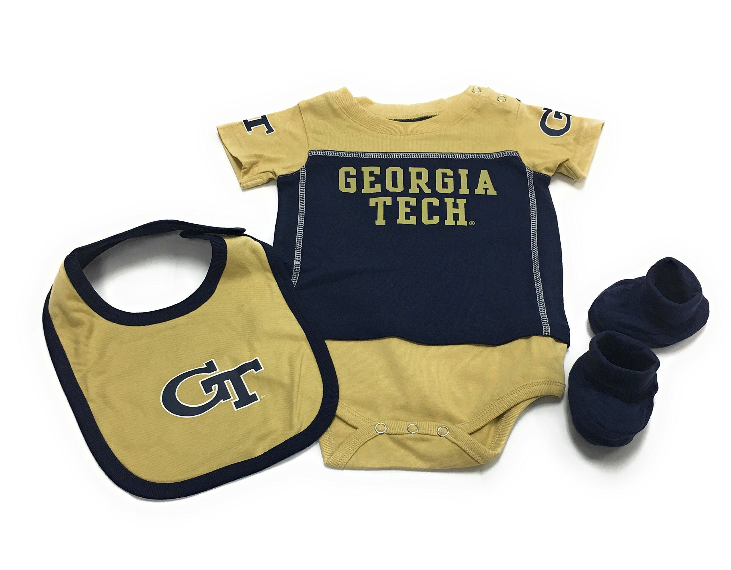 Outerstuff Baby Georgia Tech Yellow Jackets 3 Pack Bib Bootie Bodysuit Set 12 Month To Learn More Check Out Ph Baby Fashion Cute Baby Clothes Kids Outfits