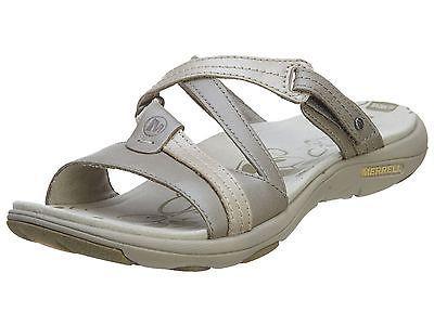 b57cb345e2c4 Merrell Sway Lavish Womens J62130-ALUMINUM Strap Slide Sandals Wmns Size 8