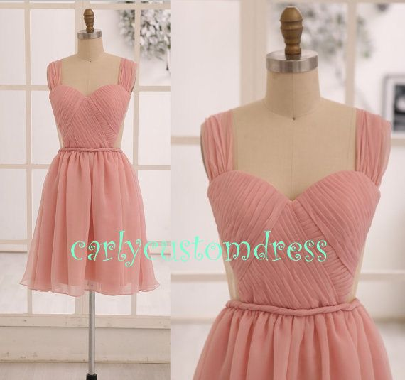 Short Coral Prom Dress/Cheap Sexy Mint Pink by CarlyCustomDress, $75.99