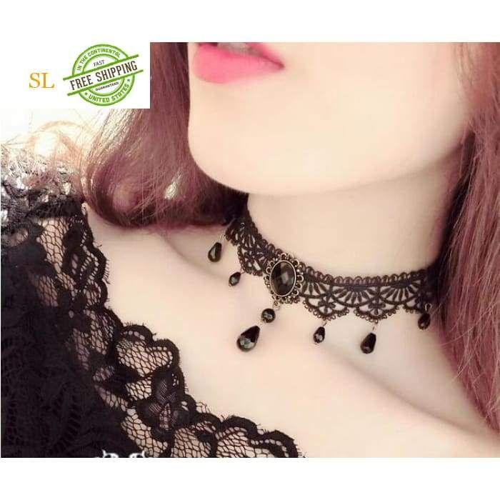 fc275001acf Fashion Black Velvet Choker Necklace for Women Statement Necklaces   Pendants  Bijoux Femme Collier Jewelry Collares Mujer C275