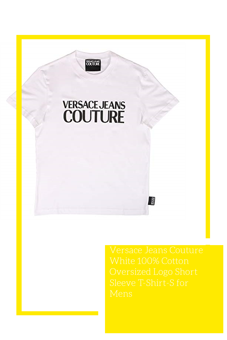 Versace Jeans Couture White 100 Cotton Oversized Logo Short Sleeve T Shirt S For Mens Versace Jeans Couture Mens Sports Shirts Logo Shorts