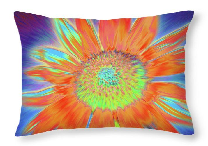 Sunflowers Throw Pillow featuring the photograph Sunswept by Cris Fulton