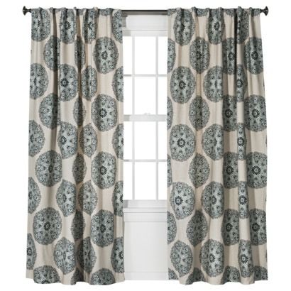 Threshold Medallion Window Panel Panel Curtains Curtains Drapes Curtains