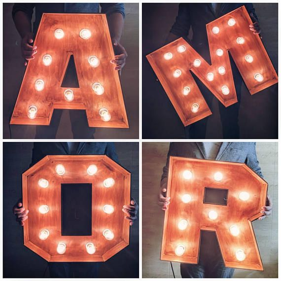 Amore Letters Amore Signs Large Wedding Amor Sign Light Up Letters