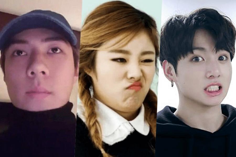 15 K Pop Idols Whose Facial Expressions Are Meme Gold In 2020 Oxygen Facial Facial Types Of Facials