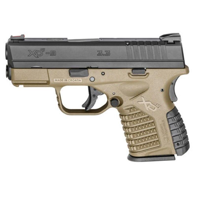 Springfield Xd-S Single Stack Fde 9mm Handgun - Xds9339dee | Armas