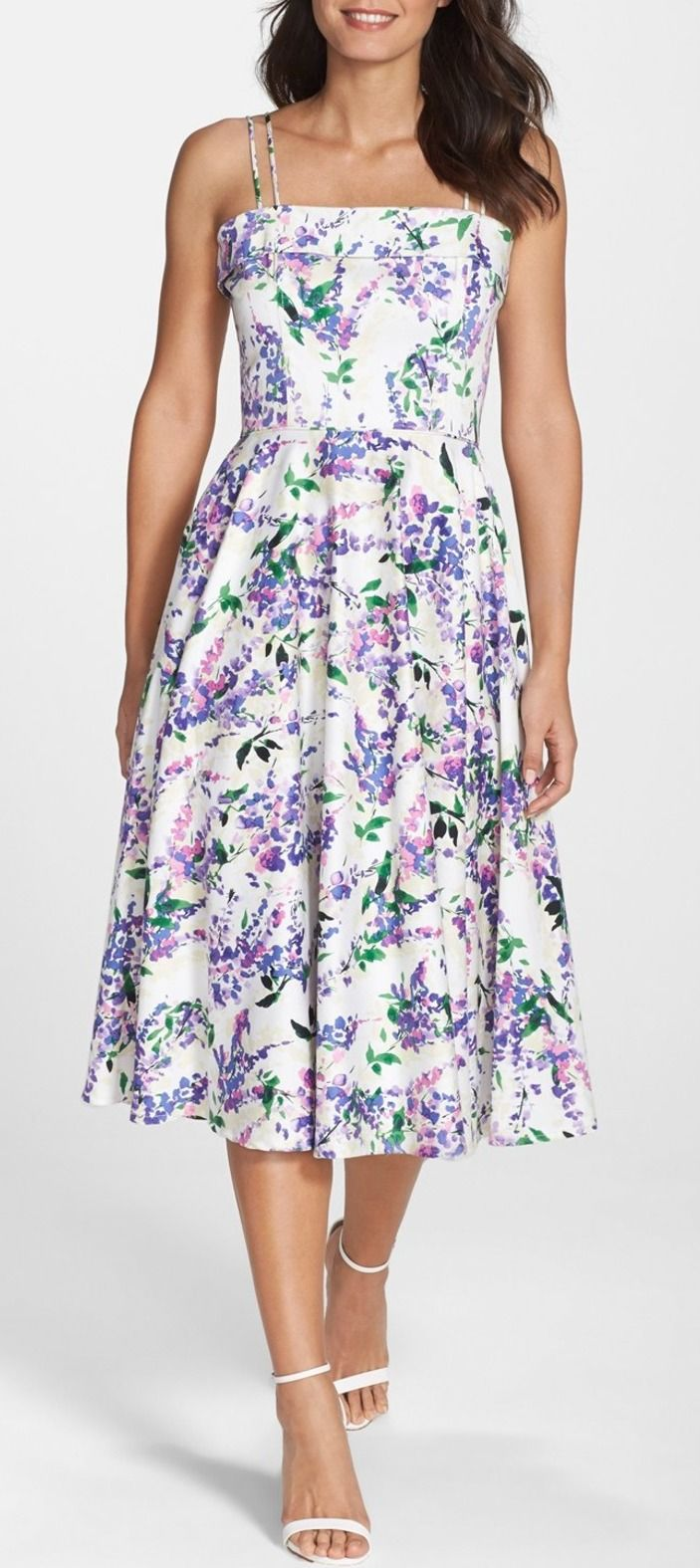 Maggy London | Floral Print Fit & Flare Midi Dress |  Sponsored by Nordstrom Rack.