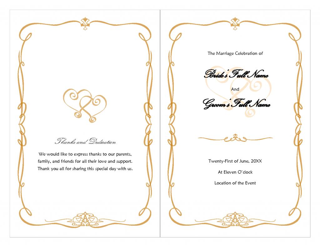 Luxury Gold Border Wedding Invitation Wording Etiquette ...