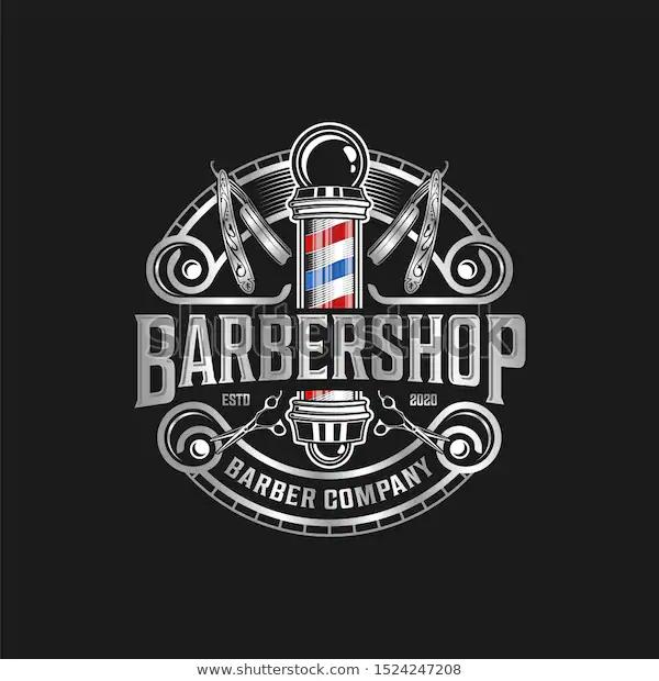 Barbershop Logo Vintage Classic Style Salon Fashion Haircut Pomade Badge Icon Simple Minimalist M Logotipo Do Barbeiro Ideias Para Barbearias Logotipo Vintage