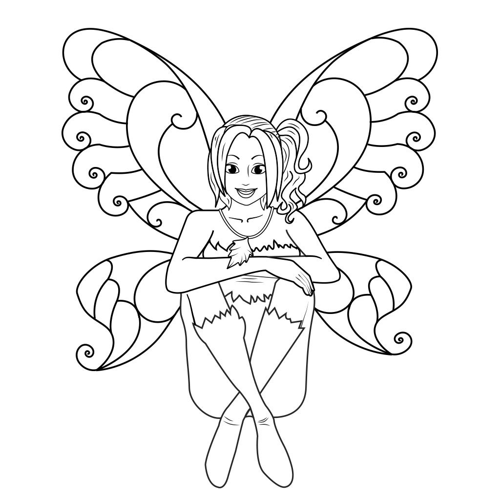 Fairy Coloring Pages For Kids Free Android Ipad Iphone App Fairy Coloring Fairy Coloring Pages Free Coloring Pages