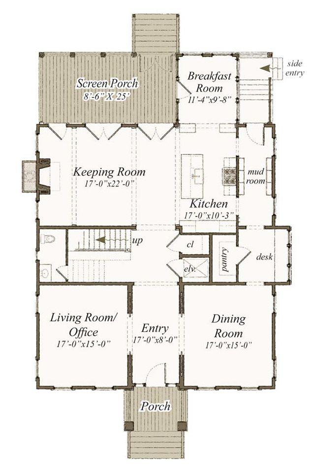 Main level floor plan also houseplans house plans small rh pinterest