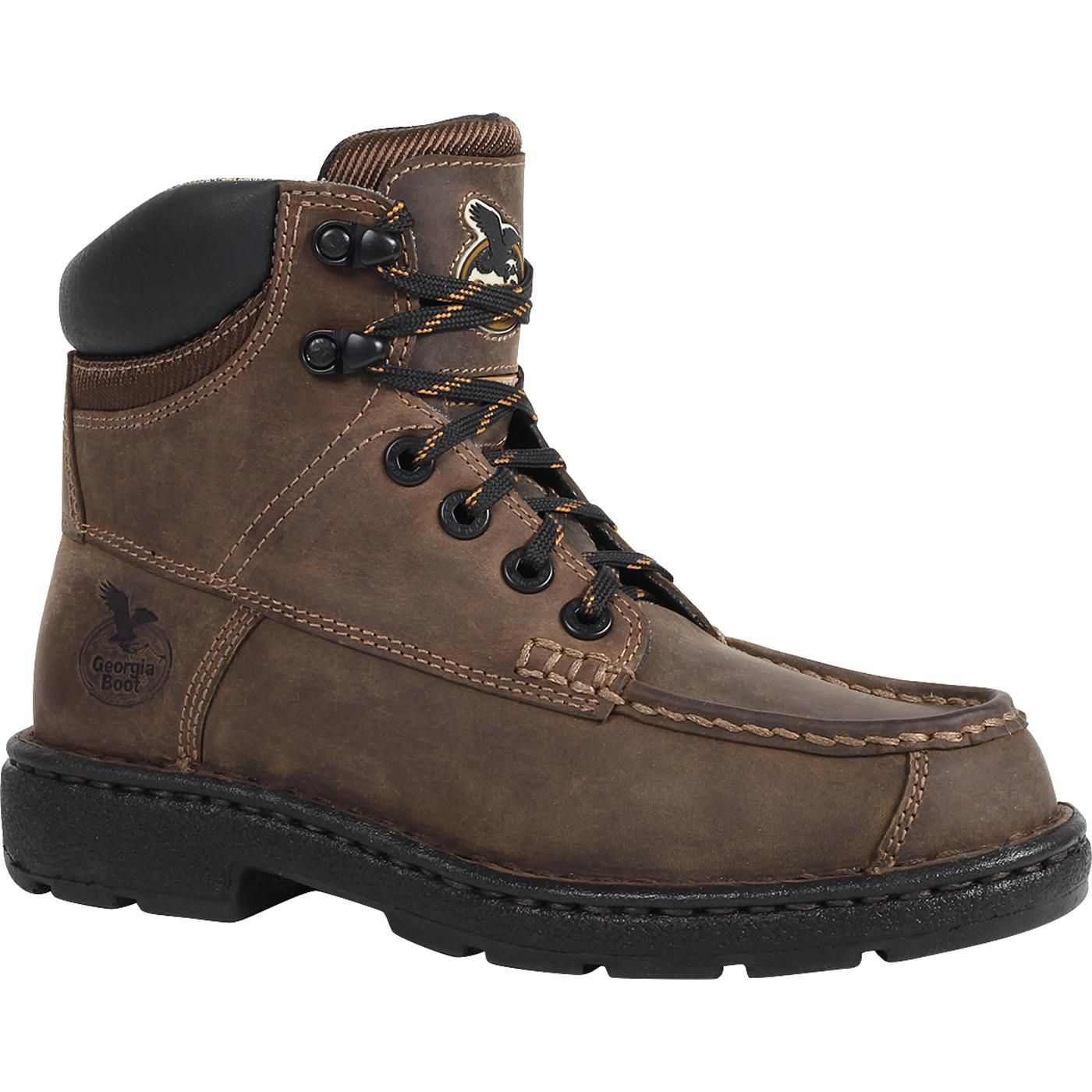 "6f81cff1191 Georgia Boot: 6"" Brown Leather Eagle Light Women's Composite-Toe ..."