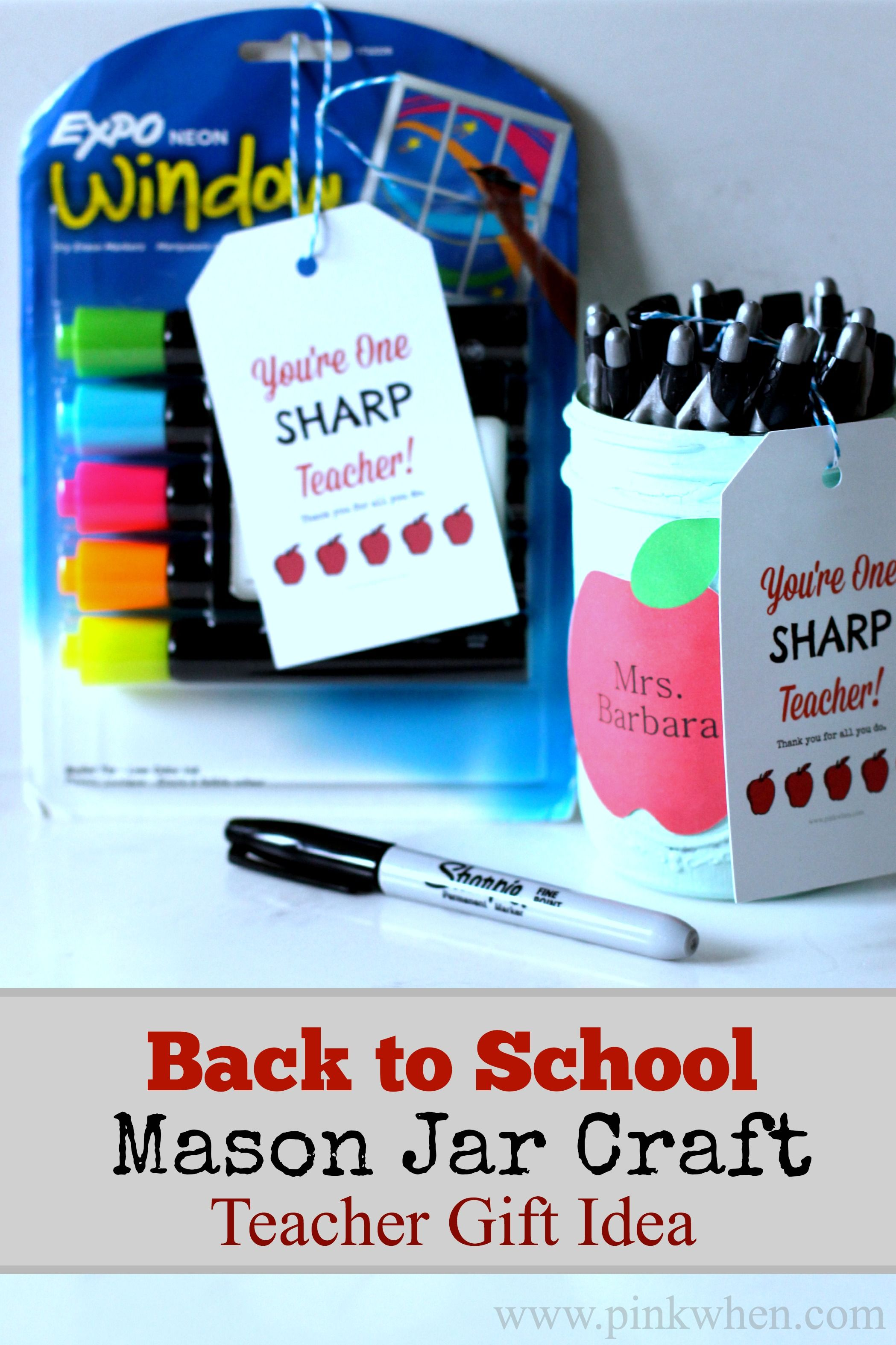 Back to School Mason Jar Craft #eceappreciationgiftideas