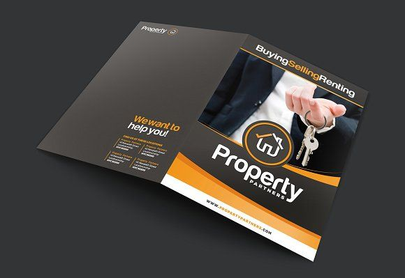 A3 Real Estate Brochure Template by BrandPacks on @creativemarket - real estate brochure template