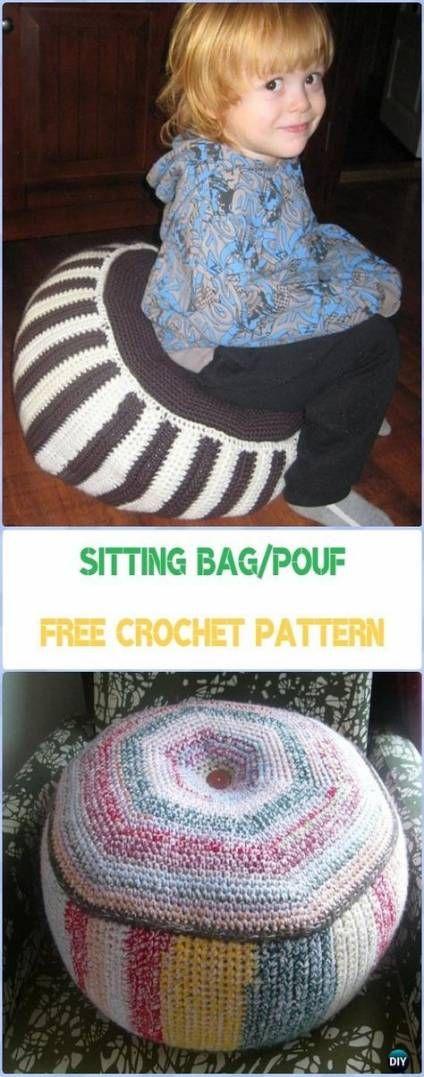 Crochet patterns pillow pouf ottoman 34 Ideas | Crochet ...