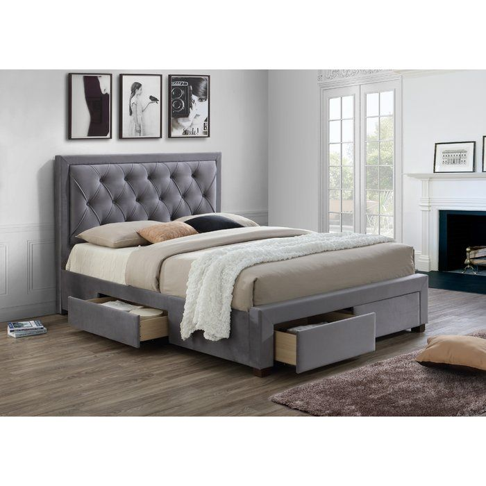 King size storage bed with elegant