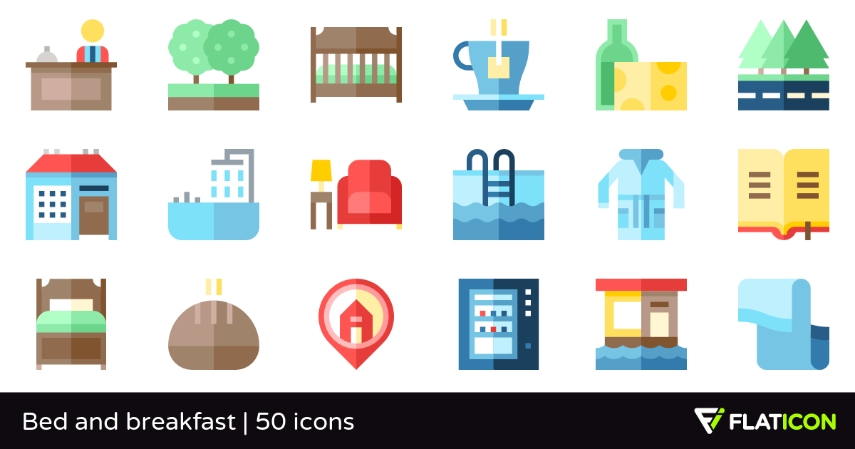 50 Free Vector Icons Of Bed And Breakfast Designed By Freepik Vector Icon Design Vector Free Bed And Breakfast