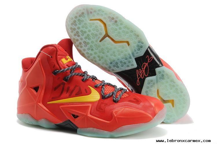 Total Crimson Yellow Nike Lebron 11 P.S. Elite 616175 001
