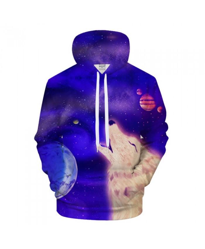 Photo of Anime Wolf Hoodies Men Hoody Galaxy Sweatshirt Casual Tracksuit 3D Pullover Male…