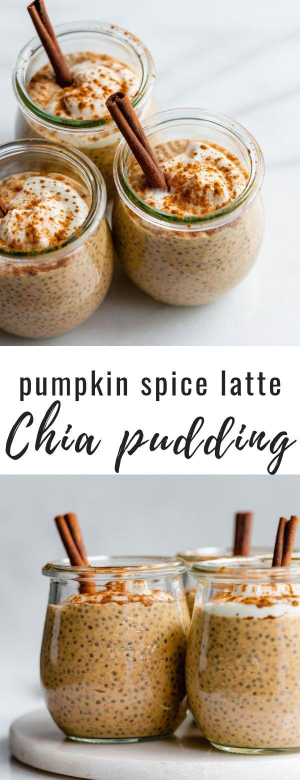 This pumpkin spice latte chia pudding is a healthy vegan & gluten-free recipe that just just like a pumpkin spice latte! This is the perfect fall chia pudding! #chiapudding #chiarecipes #pumpkinrecipes #veganrecipes #choosingchia