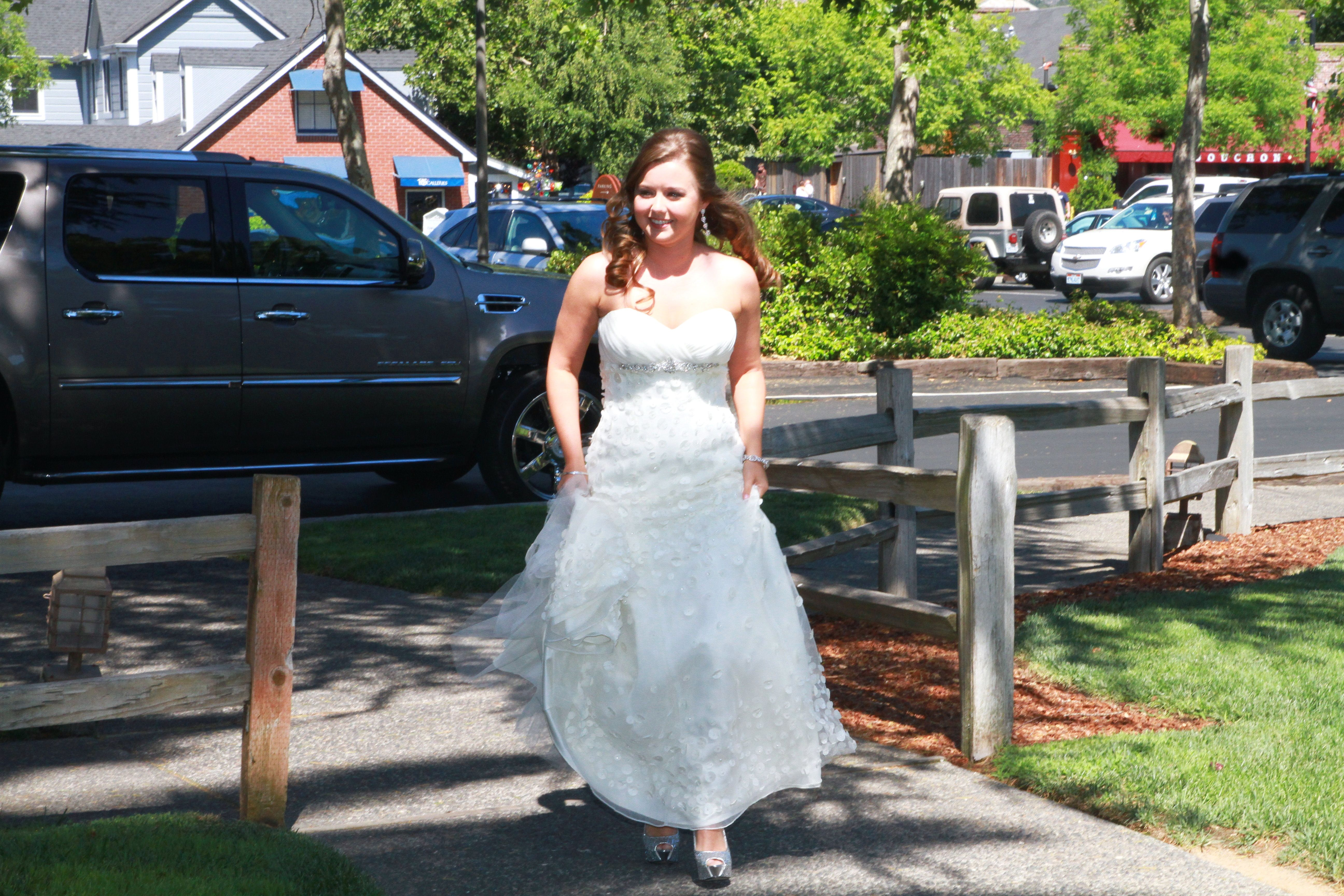 """walking to get the groom for the """"first look"""""""