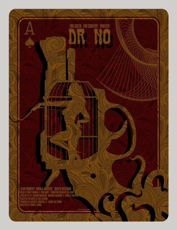 James Bond Dr. No Movie Poster by David O'Daniel.