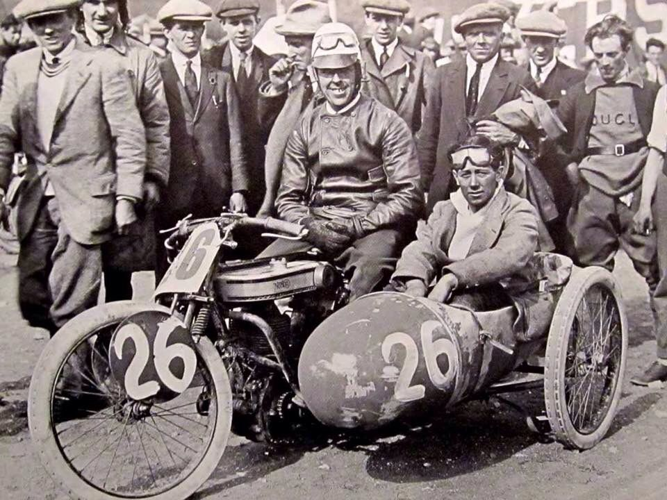 Norton motorcycle with sidecar