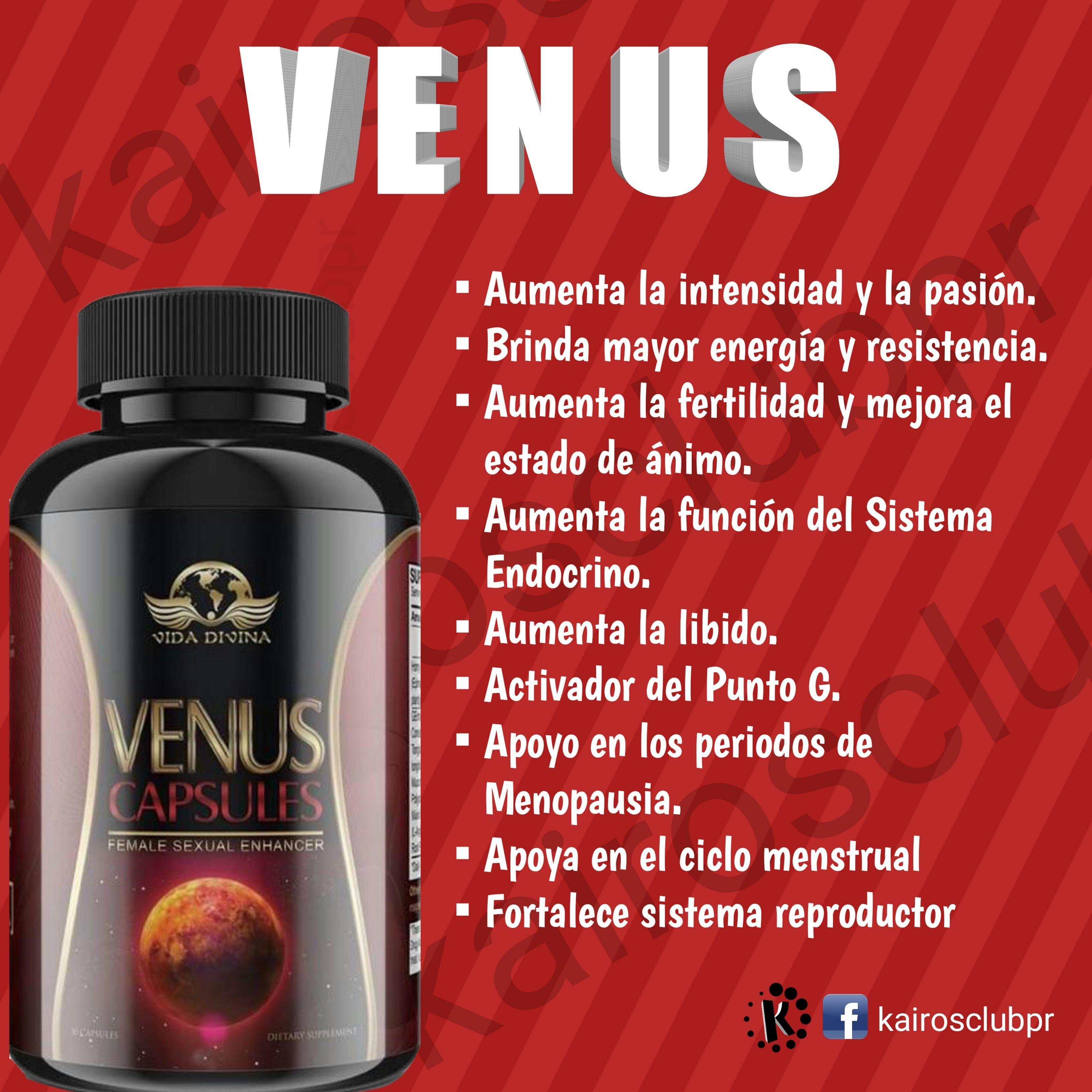 Venus Capsules Aumenta La Intensidad Y La Pasion Brinda