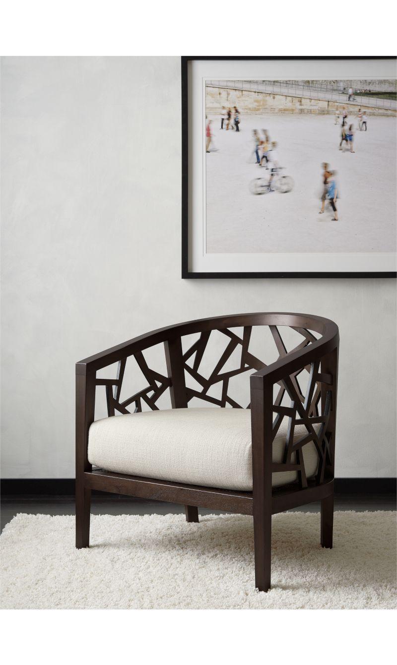 Ankara Truffle Frame Chair with Fabric Cushion | Crate and Barrel ...