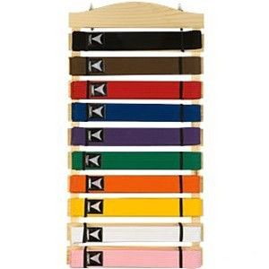 Karate Belt Display Wood Rack 10 Belts Martial Arts Belt Display Belt Display Karate Belt Display