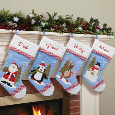 personalized quilted christmas stocking choose from 4 characters multicolor products - Walmart Christmas Socks