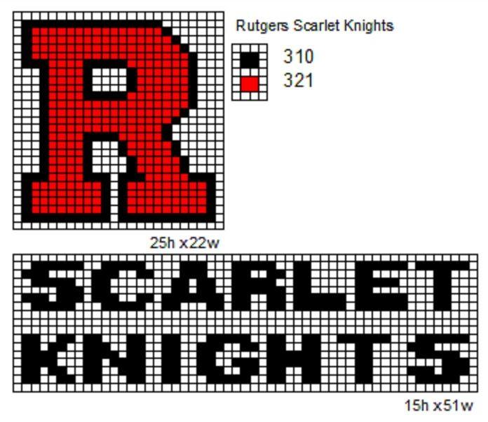 A Rutgers Cross Stitch | Rutgers Art | Pinterest