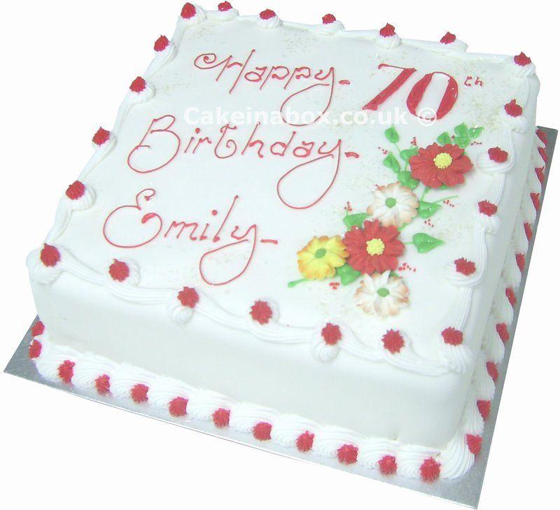 Happy 70th Birthday Cake Birthday Cakes Pinterest 70th