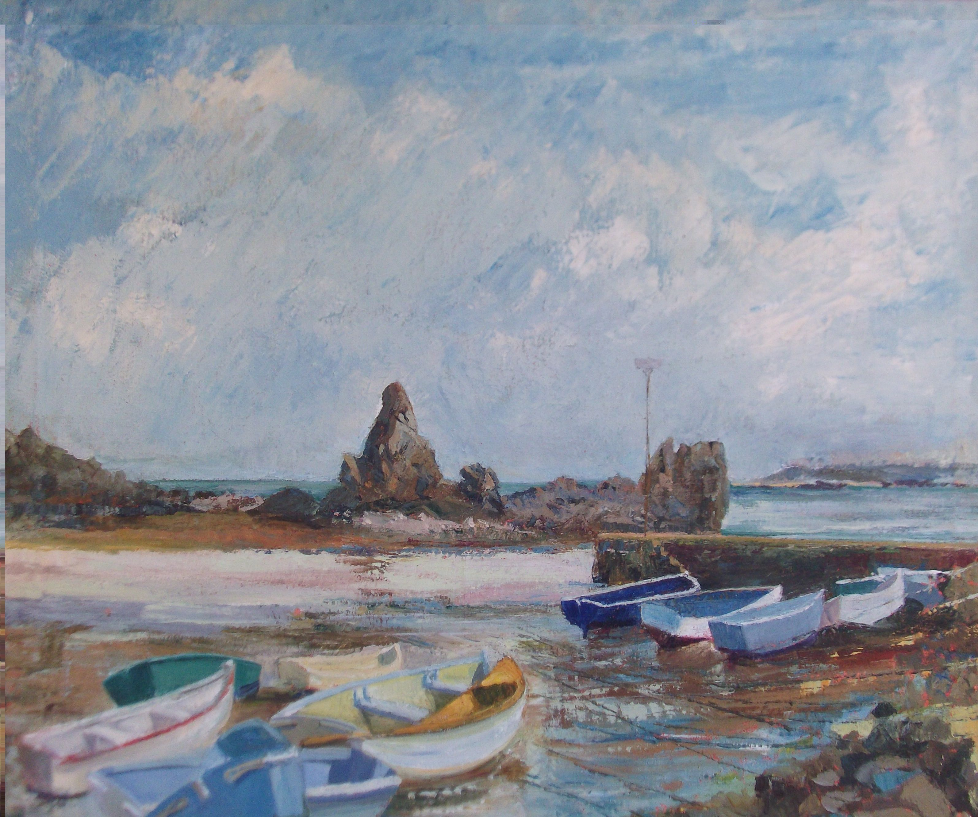 Co colour care guernsey - Bordeaux Harbour Guernsey By Sheila Noble Oil Painting On Canvas Available At Www
