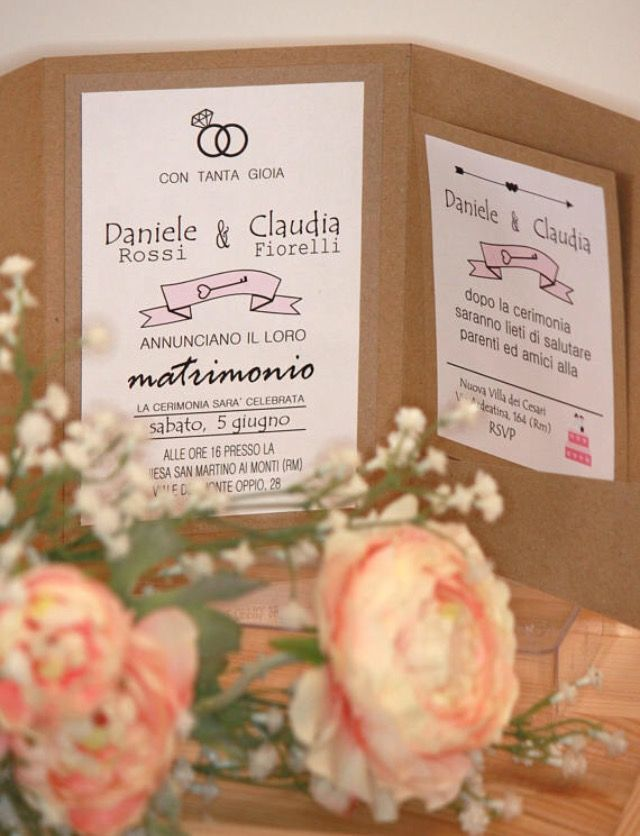 Partecipazioni shabby country chic wedding invitation My creations
