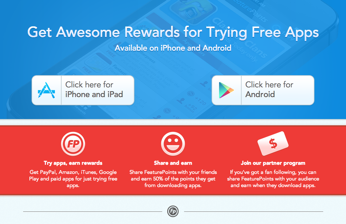 Featurepoints Earn Money And Rewards For Trying Free Apps App Apps That Pay You Apps That Pay
